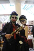 Steampunk Joker and Harley at Movie Buffs by Peachey-Photos