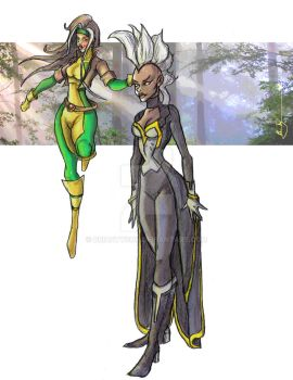 Storm and Rogue 2014 by BrianTyson