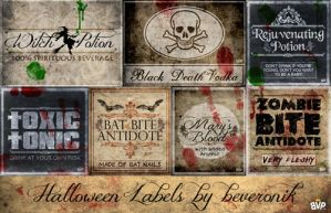 Halloween Labels by beveronik