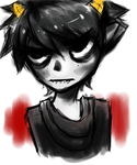 Angry fab karkat doodle by Maniko-chan