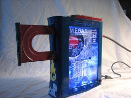 Megas XLR Themed Xbox 360 - Full With Disk Tray by Nightowl3090