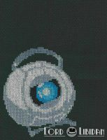 Portal Wheatley Cross Stitch by LordLibidan