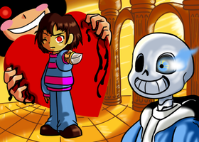 Chara contra Frisk 2 by reina-del-caos
