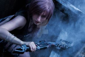 Fight the enemy - Lightning Cosplay by Kawaii-Kioko