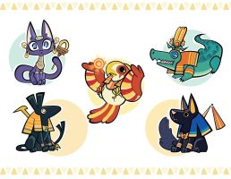 Egyptian Animals by inkinesss