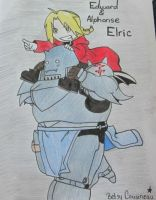 Ed and Al Elric by snoopgirl25