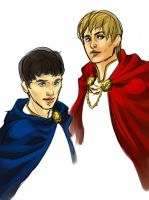 BBC Merlin - Red and Blue by bluestraggler