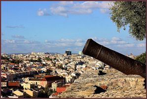 Old Cannon Protecting Lisbon by Tigles1Artistry