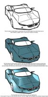 How to paint a car in PS by schoondesign