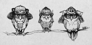 Samurai Owls by yolque
