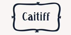Caitiff by opusflare