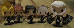 Zion, Luxord, and Lexaeus - Chibi Papercrafts by technodrumguy