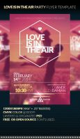 LOVE IS IN THE AIR - Party Flyer Template by anekdamian