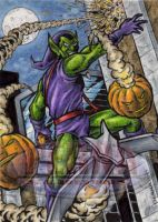 Green Goblin - Sketch Card by tonyperna