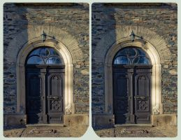 Parish church St. Georg 3D ::: Cross Eye HDR by zour