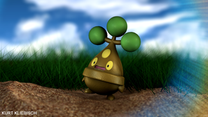 Bonsly 3D Pokemon by bogeymankurt