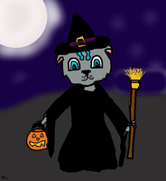 Trick Or Treat Kitty by divacnr