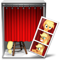 photo booth icon - applejack by spikeslashrarity