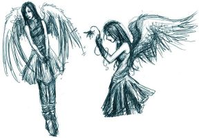 Angel Doodles by asunder