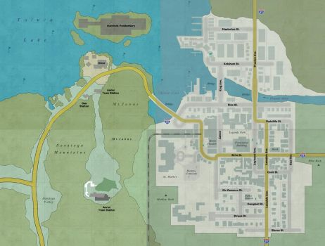 Silent Hill Downpour Full map by 10of13