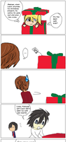 A Death Note Christmas Comic by Yamikaisu