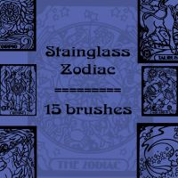 Stainglass Zodiac by rL-Brushes