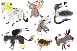 CLOSED - AUCTIONS - Creatures Adoptable 153 by LeaAdoptables