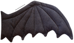 Black Plush Wing by K1ku-Stock