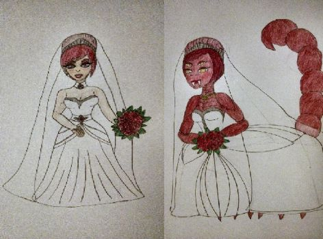 Scarlet's Wedding - Human and Mutant by AnimatedTigerGirl