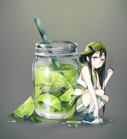 Lime jar by Quiss