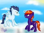 RQ Stare down by SaturnStar14