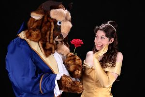 Belle and Beast: Aww, for me? by MandyNeko