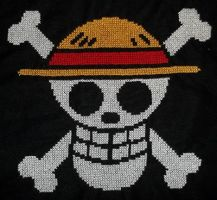 Luffy's Jolly Roger by TheSkandranon