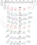 Shoe Study Angle Chart by Shadowcross