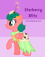 Starberry Blitz Grand Galloping Gala Gown by ZumbaZyn