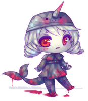 collab chibi with mimitea by kokotea