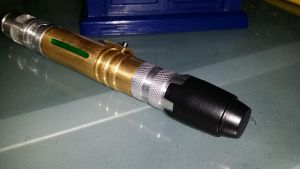 Custom Brass-Body Sonic Screwdriver Endcap by SanHolo80