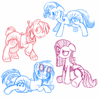 More Practice Poses and such by Hourglass-Sands