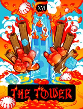 The Tower Tarot Card by LadyChilla