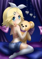 Rin Kagamine - Teddy Bear by LadyGalatee