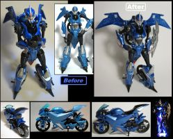 TF Prime Arcee Custom Before and After Pics by Baker009