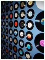 My bedroom wall of records... by oche