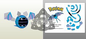 Pokemon Mini Zubat Papercraft Preview by HellswordPapercraft