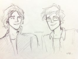 Padfoot and Prongs by nowherelittlegirl