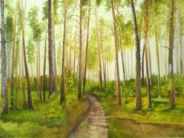 Forest by aakritiarts