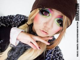 Sparkles and Colour [Colourful makeup] by Jounka