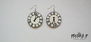 Clock Earrings by faktoria-f
