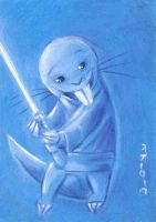 Jedi  Master Rufus Sketch Card by LEXLOTHOR