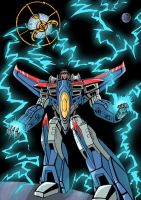 Fight me now, Unicron (color) by LadySeeker