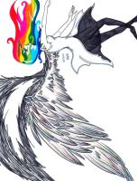 The falling rainbow by gracelessblue